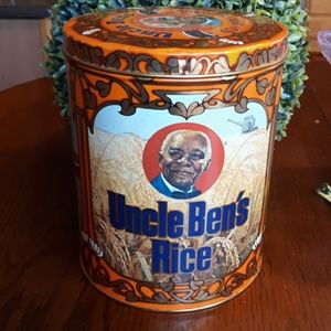 Vintage 1983  Uncle Bens Rice Tin Canister